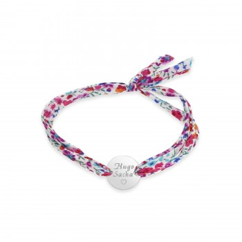Bracelet cordon avec médaille personnalisée