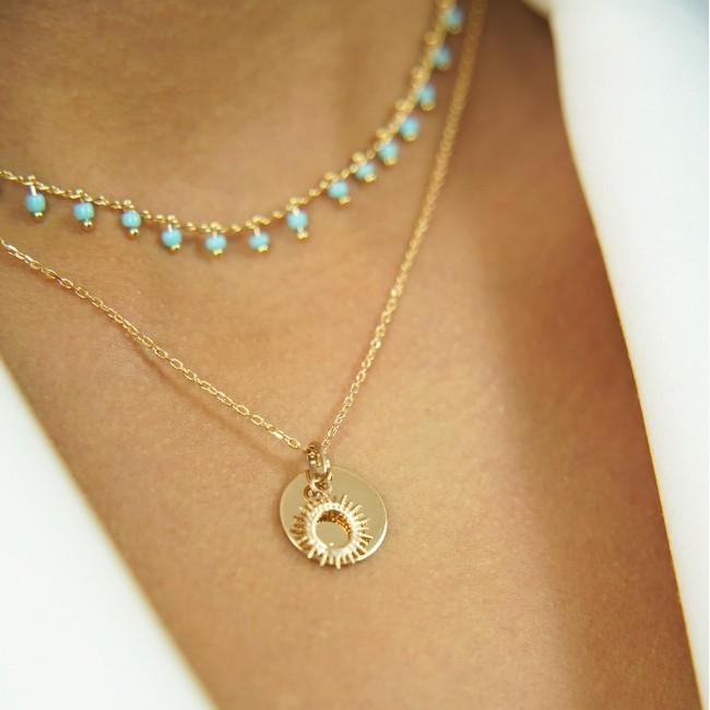 Collier personnalisé avec son pendentif cœur perlé