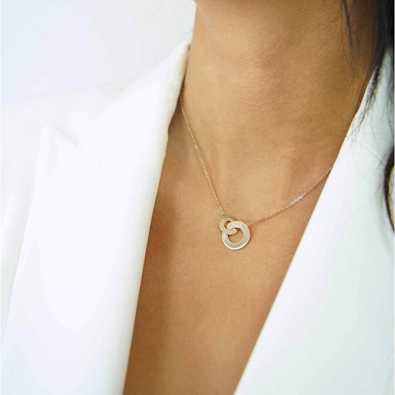 Collier personnalisé grande médaille soleil