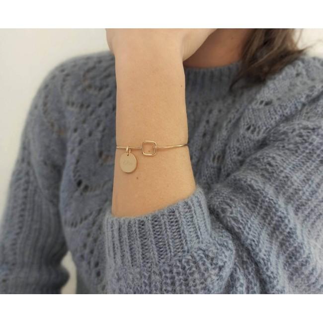 Collier grande médaille et son médaillon étoile orange