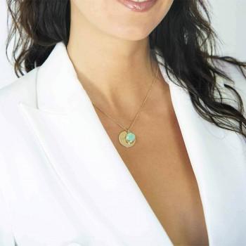 Bracelet homme personnalisé en cuir noir et bleu tressé
