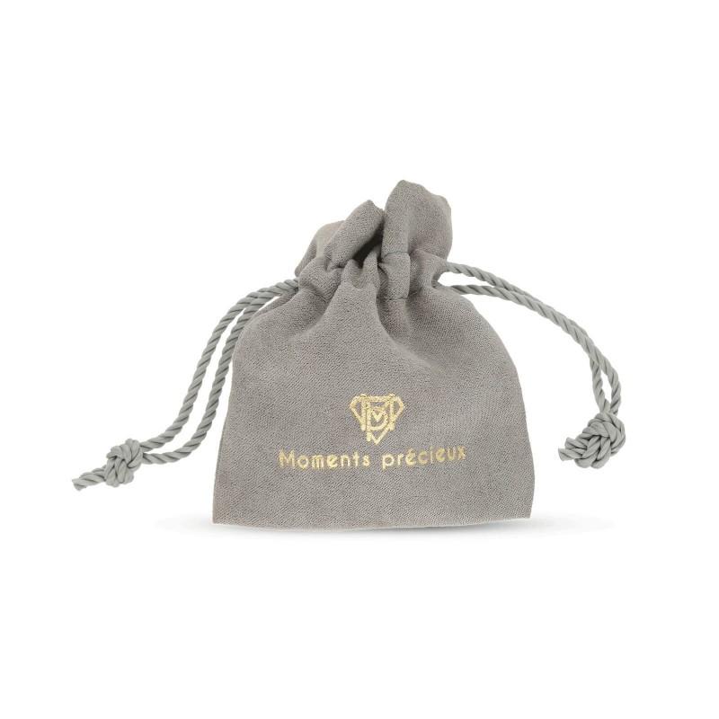 Bracelet cordon & médaille personnalisée rectangle