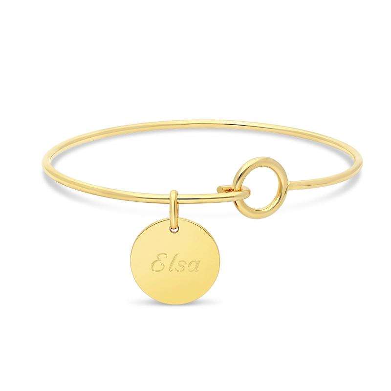 Bracelet cordon & médaille argent losange