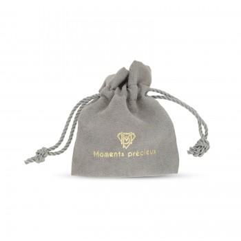 Bracelet cordon médaille ovale Argent