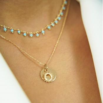 Bracelet double chaîne et...